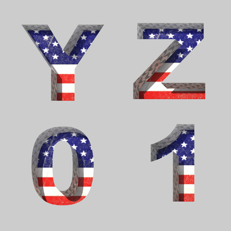 Vector American alphabet letters set Vector