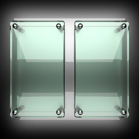 polished metal background with glass photo