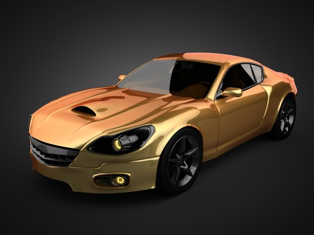 luxury brandless sport car photo