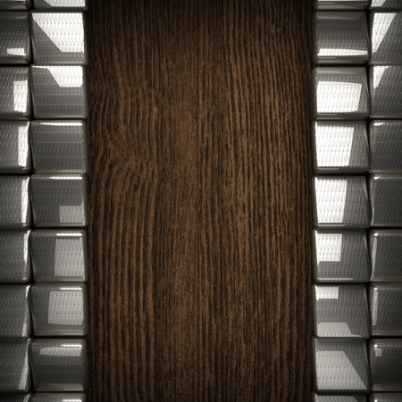 wooden background with metal element