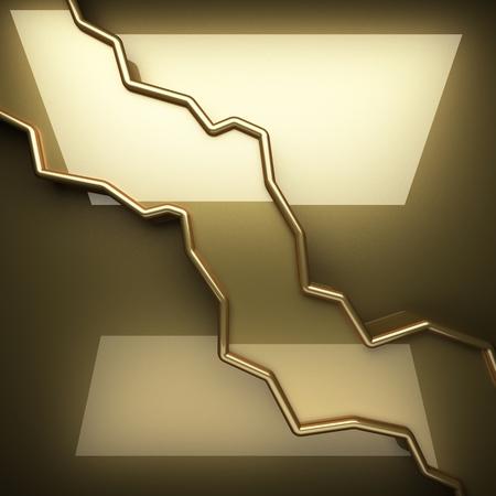 polished: polished golden  Stock Photo