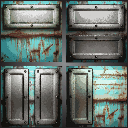 ironworks: Vector metal background set