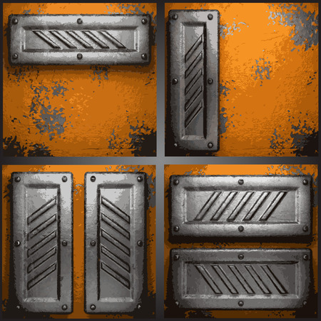 ironworks: metal background set