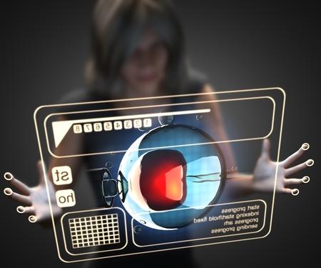 tallo: Mujer y holograma con la ingenier�a inseminaci�n