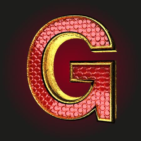 g red letter with gold Illusztráció