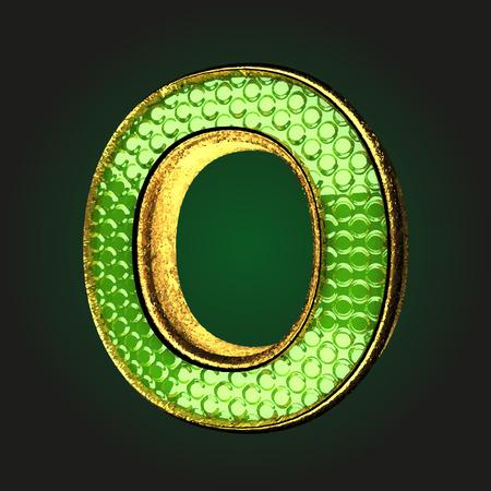 o green letter with gold Ilustração