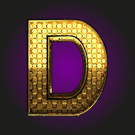 d: d golden letter