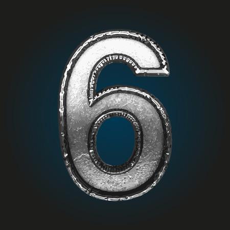 brushed aluminum: 6 metal letter