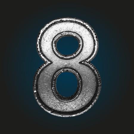 brushed aluminum: 8 metal letter