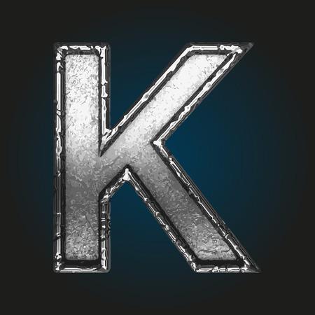 brushed aluminum: k metal letter