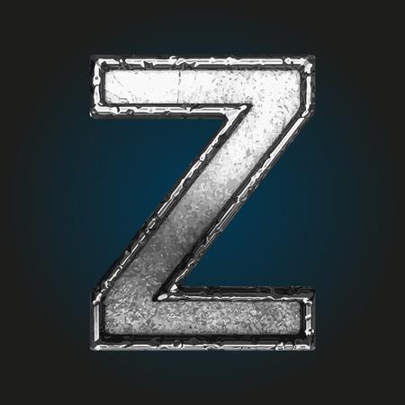 lettres alphabet: lettre z métallique
