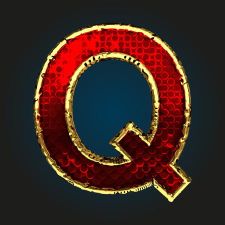 q: q red letter with gold