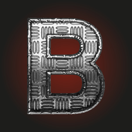 brushed steel: b vector metal letter Illustration
