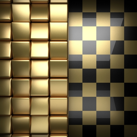durability: polished golden and black background