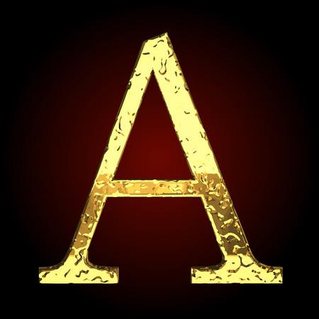 golden: a vector golden letter Illustration