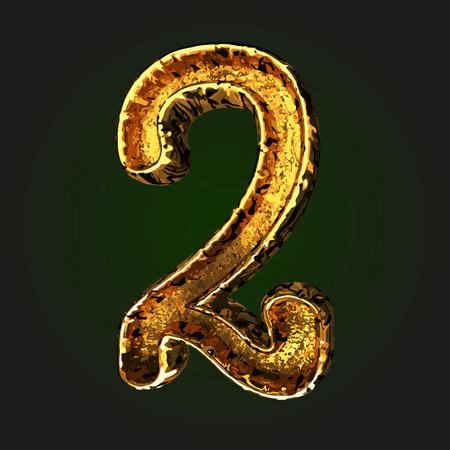 golden: 2 vector golden letter