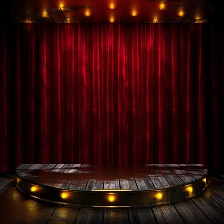 cortinas rojas: etapa cortina roja con las luces