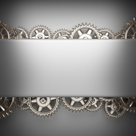rack wheel: gray brushed metal background with gears