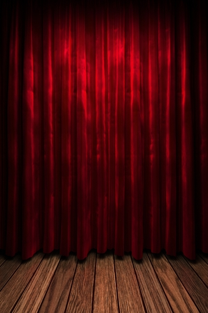 curtain background: red curtain stage