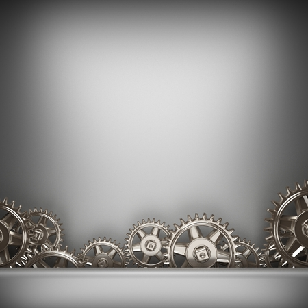 brushed metal background: gray brushed metal background with gears