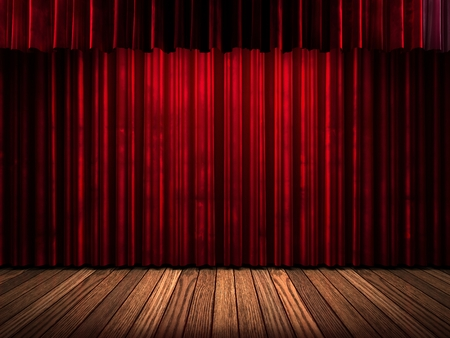 curtain theatre: red curtain stage