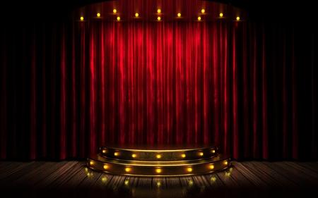 circo: etapa cortina roja Foto de archivo