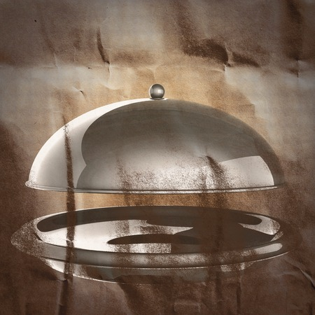 wares: Restaurant cloche painted on paper