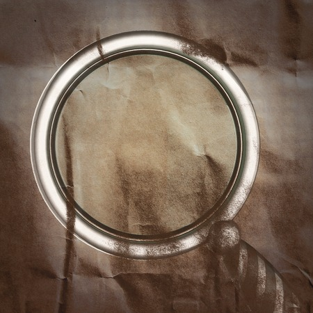 scrutiny: Magnifying Glass painted on paper