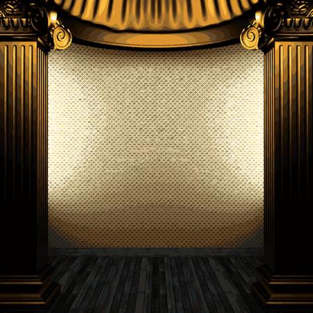 zuilen: vector bronze columns and wallpaper