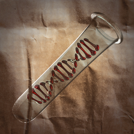 thymine: DNA model  painted on paper