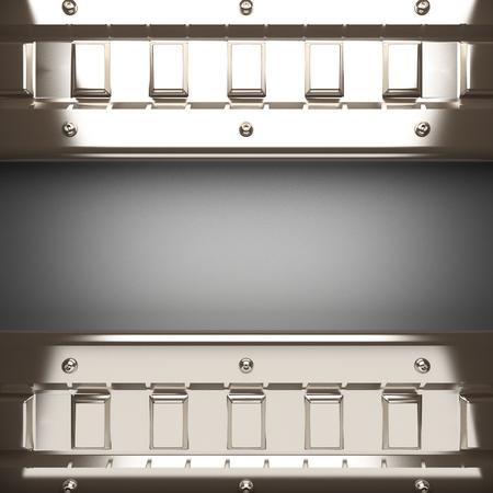 polished: polished metal element on gray background