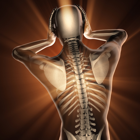 radiography: human with headache radiography scan