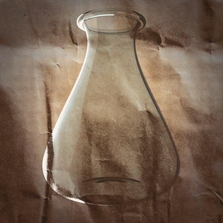 material de vidrio: vidrio de laboratorio en el papel pintado