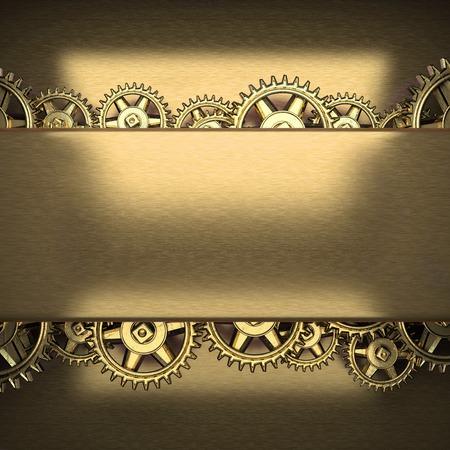 gears: metal background with cogwheel gears Stock Photo