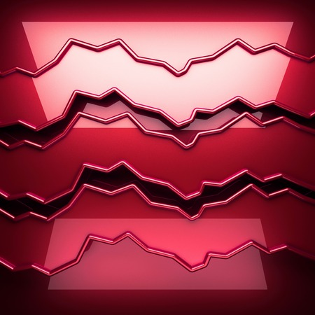 red metal: red metal plate with some reflection Stock Photo