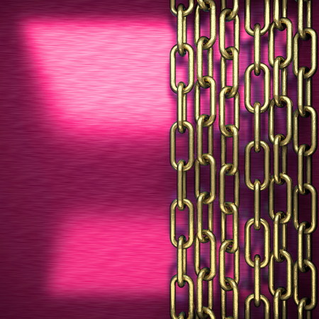 stainless steel sheet: pink metal background with yellow element