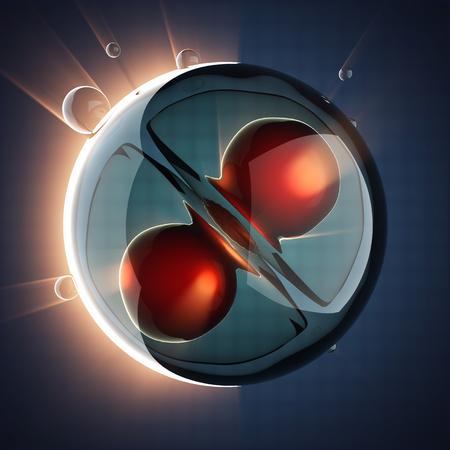 zygocyte: micro cell scientific illustration