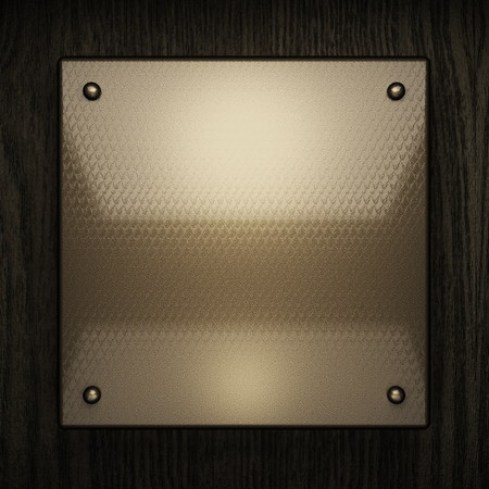 stainless steel sheet: wooden background with metal element