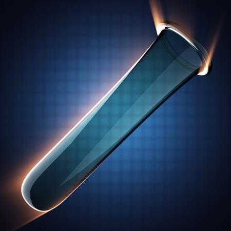 material de vidrio: Cristaler�a de laboratorio sobre fondo azul