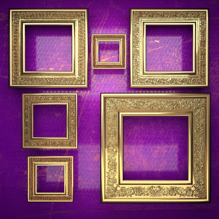 karats: golden background painted in violet Stock Photo