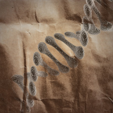 cytosine: DNA model  painted on paper
