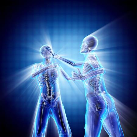 radiography: boxing men bones radiography