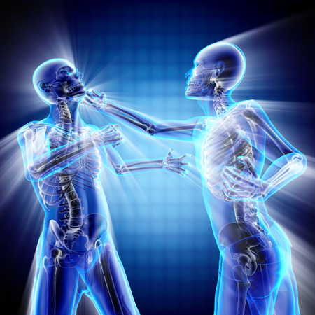 roentgen: boxing men bones radiography