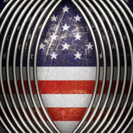 karats: silver background painted to US flag