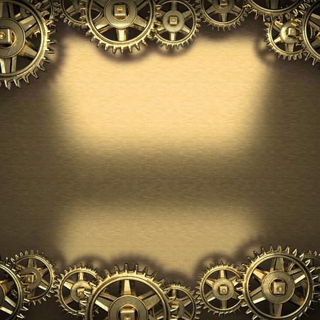 cogwheel: metal background with cogwheel gears Stock Photo