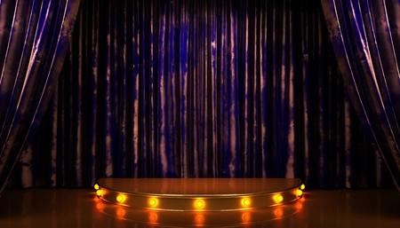 blue velvet: blue velvet curtain stage