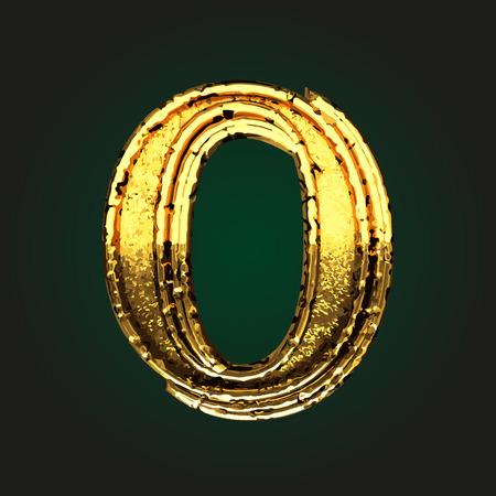o vector golden letter Ilustração