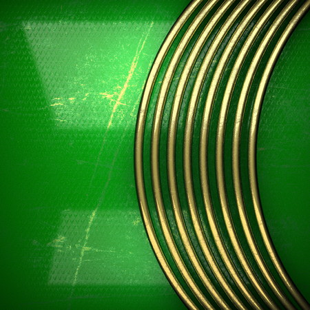 karats: golden background painted in green Stock Photo