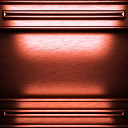 brushed metal background: red brushed metal background Stock Photo