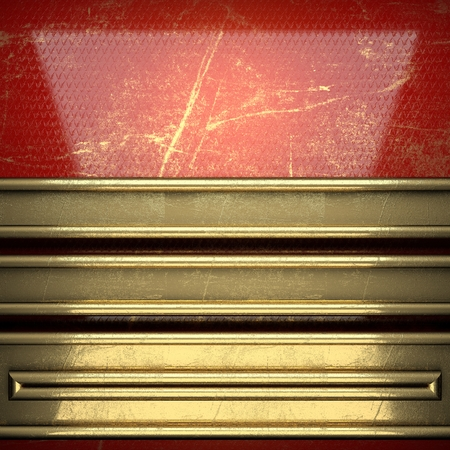 karats: golden background painted in red Stock Photo
